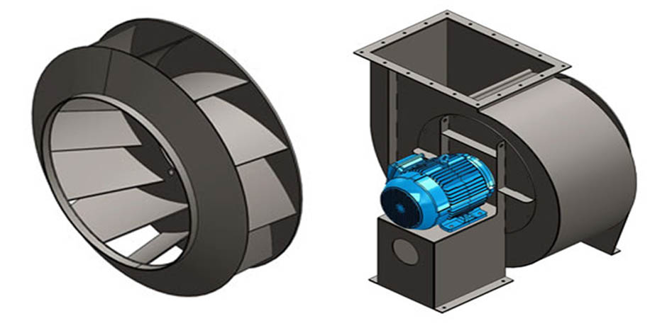 Backward Curved Fan : Centrifugal blowers backward curved blower exhausters